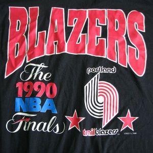 Portland Trailblazers 1990 NBA Finals T-Shirt, XL
